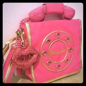 Betsey Johnson vintage telephone purse
